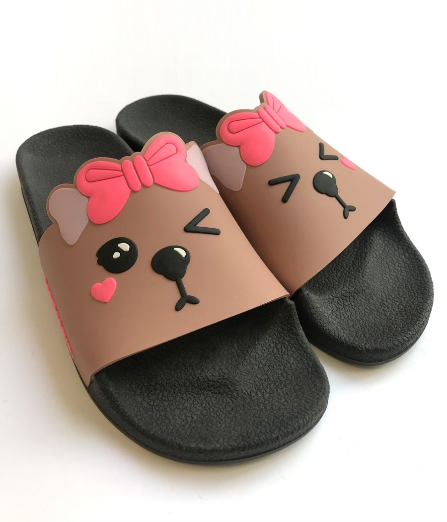 SANDALIA GUMMY SLIDES SOFIA BASE BLACK