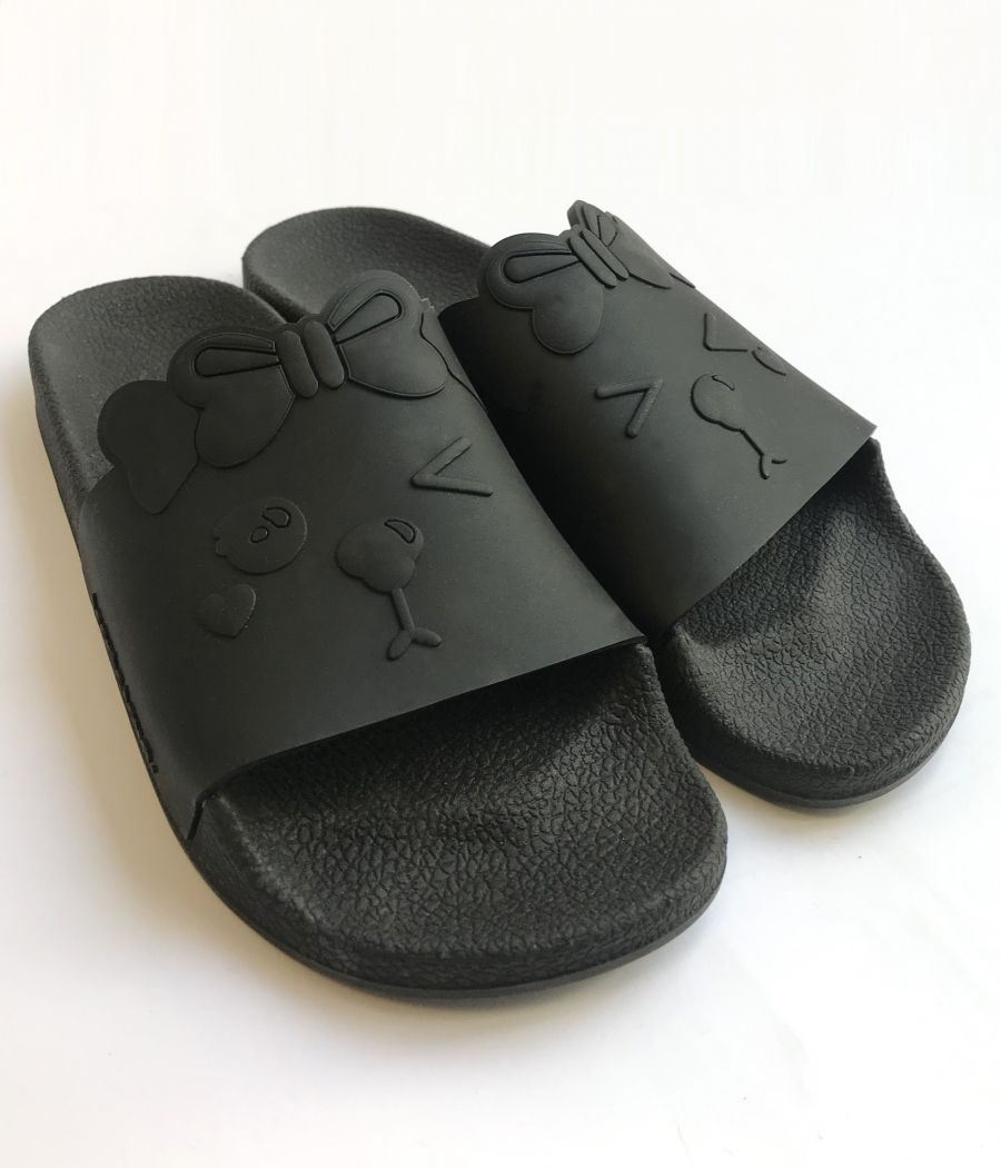 SANDALIA GUMMY SLIDES SOFIA TOTAL BLACK