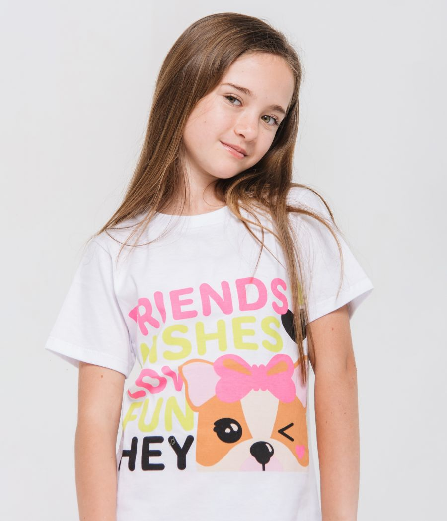 REMERA BLANCA SOFIA FRIENDS